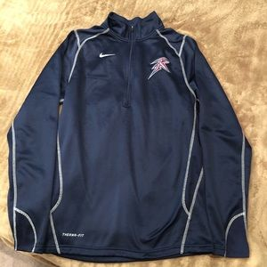 Nike Therma-Fit Blue 1/4 Zip Jacket Men's Small